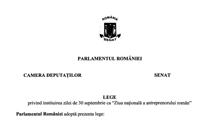ziua nationala a antreprenorului roman